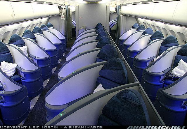 Airbus centerblog for Interieur avion air canada